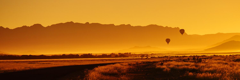 Survol en Montgolfière du désert du Namib