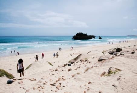 Dunes et sable blanc