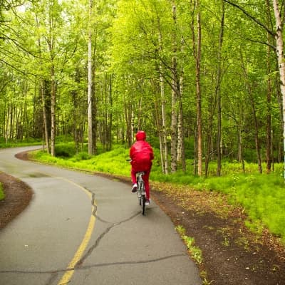 Balade à vélo à Anchorage