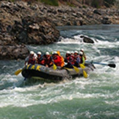 Rafting sur la rivière Hvita