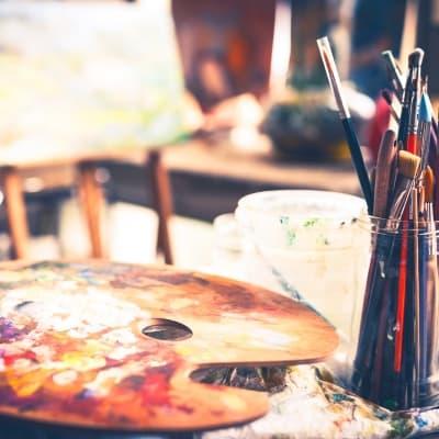 Atelier de peinture en sable