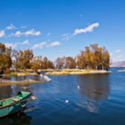 Lac Erhai à vélo