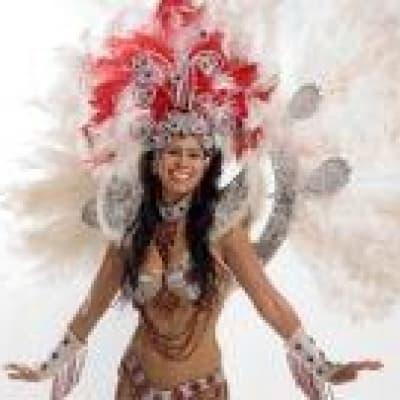 La location du costume et le défilé avec une école de samba