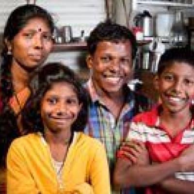 Déjeuner ou dîner dans une famille chrétienne ou syro-chrétienne
