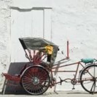 Rickshaw in the streets of Penang