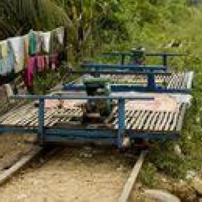 Expérience en bamboo train