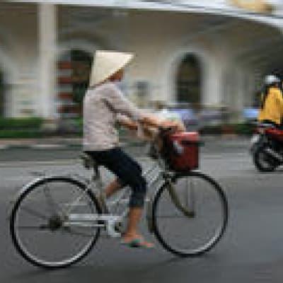 Exploration de l'ile de Khong à bicyclette