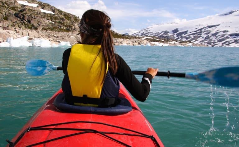 Kayak dans les Lofoten