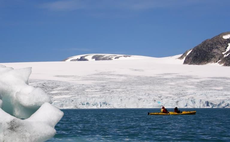 Kayak et randonnée sur glacier