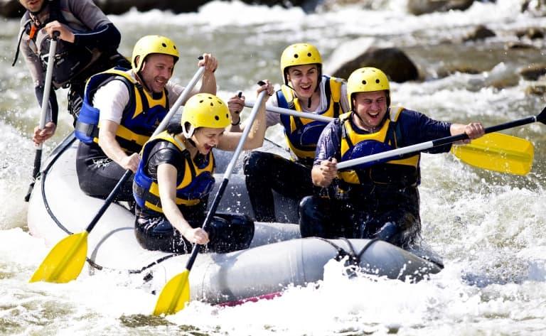 Rafting dans la région du Kamchatka