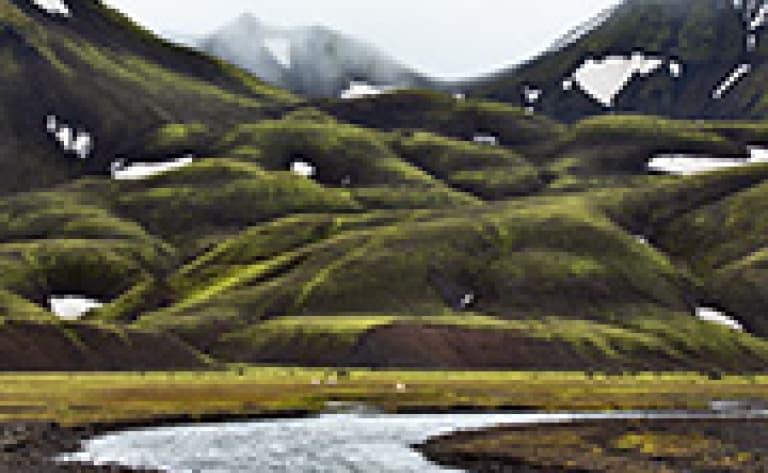 Vallée de þorsmörk et glacier Eyjafjallajökull