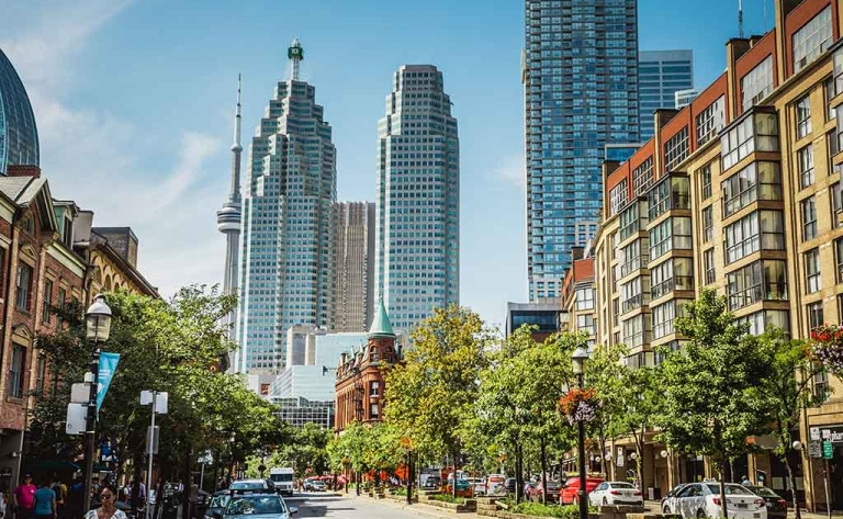 Visite guidée privative de Toronto à pied avec guide francophone