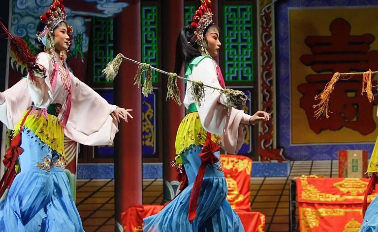 Spectacle à l'opéra de Pékin