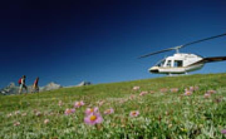 Survols en hydraski et en hélicoptère