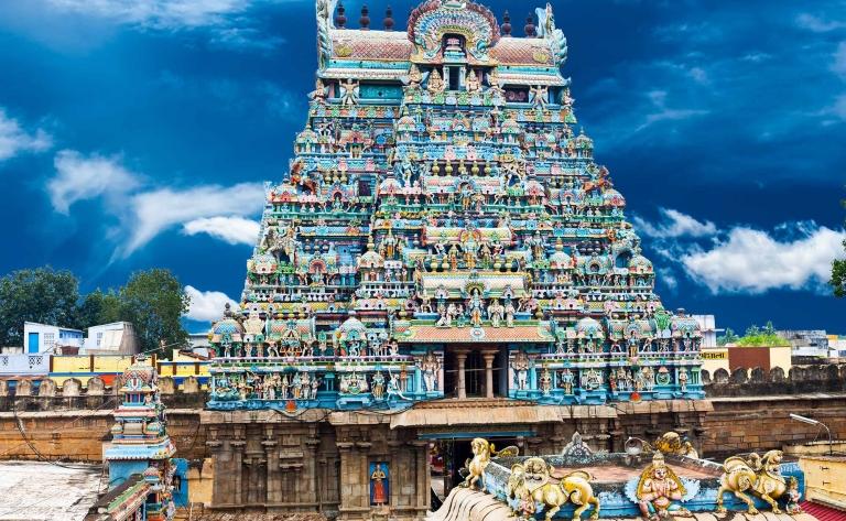 Cérémonie du coucher de la déesse Parvati