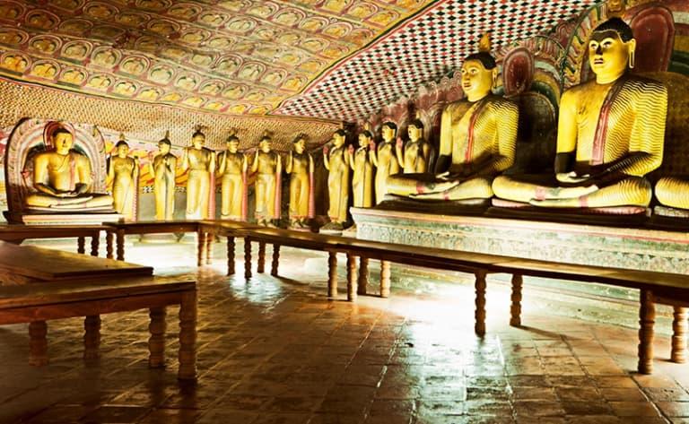 La visite des grottes de Dambulla
