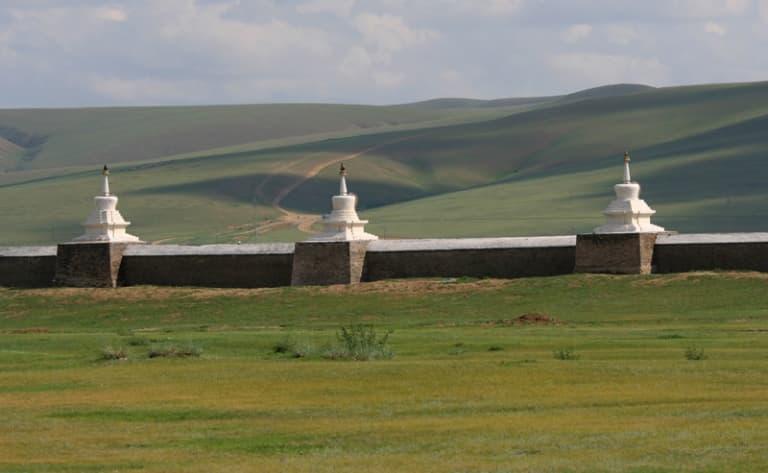 Le monastère d'Erdene Zuu, la nouvelle ville de Kharkhorin