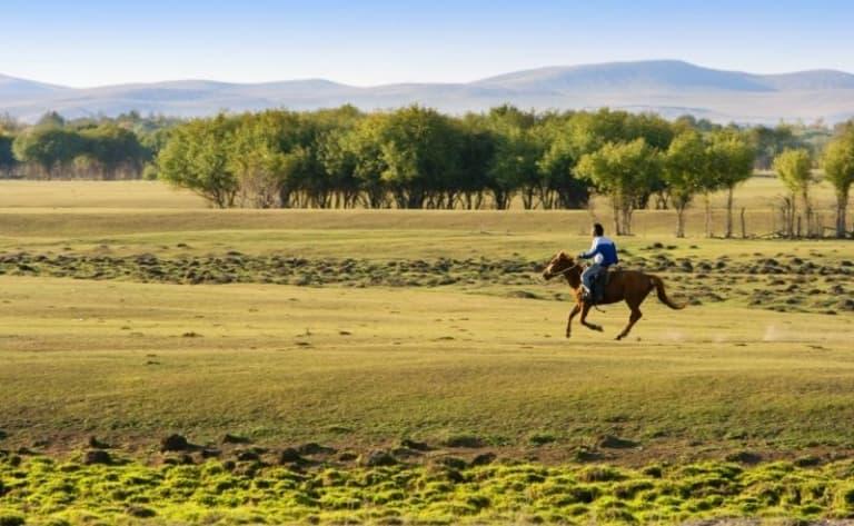Le khentii à cheval