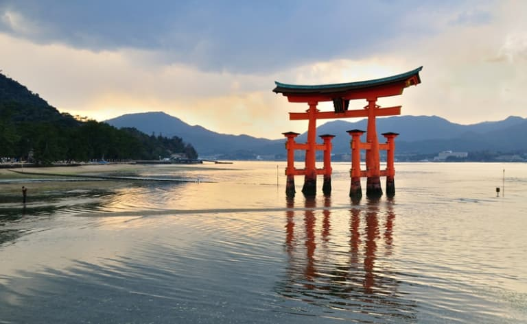 The sacred island of Miyajima and its Floating Torii