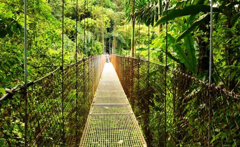 Entre ponts suspendus et sources d'eau chaude !