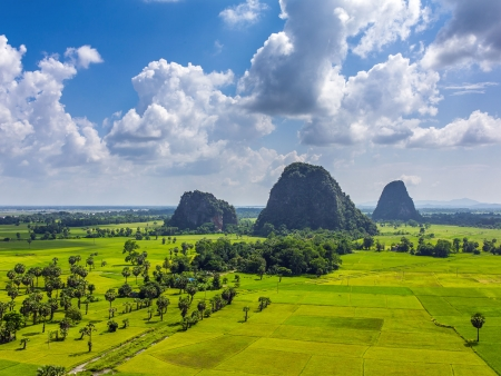 Les paysages naturels de la région de Hpa An