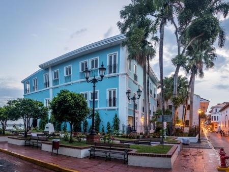 Dans les rues pavées de Panama City
