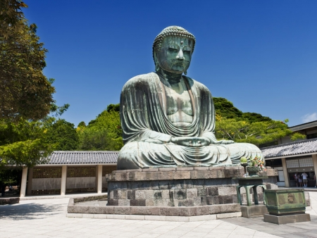 Admire the Daibutsu, a giant statue of Buddha