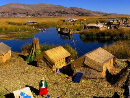 A l'horizon : le lac Titicaca !