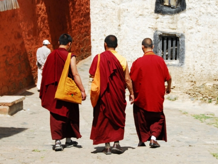 Départ du Tibet