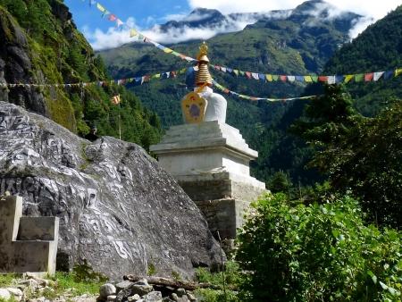 Himalaya en toile de fond