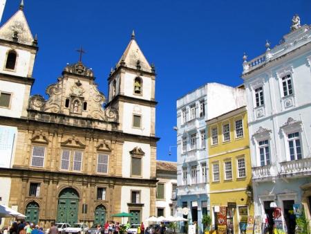 Arrivée à Salvador et découverte de ses quartiers coloniaux. 85km
