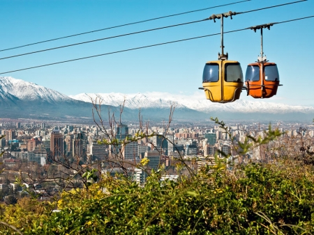 Santiago, vu d'en haut !