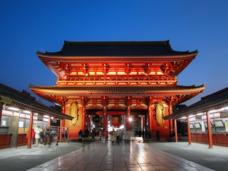 Senso-ji Temple, Asakusa, Akhibara and Odaiba districts