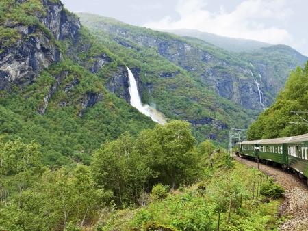 Sur la mythique ligne ferroviaire de Flåmsbana