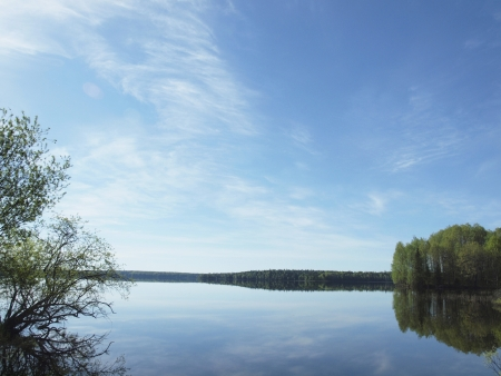 Sur les rives du lac de Saimaa