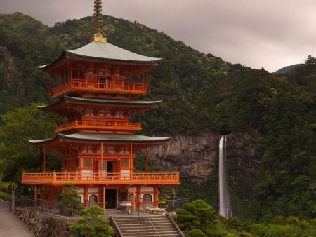 Discover Nachi no Taki Falls, which are 133 metres high
