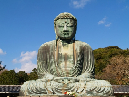 Admire the Daibutsu: a giant bronze statue of Buddha