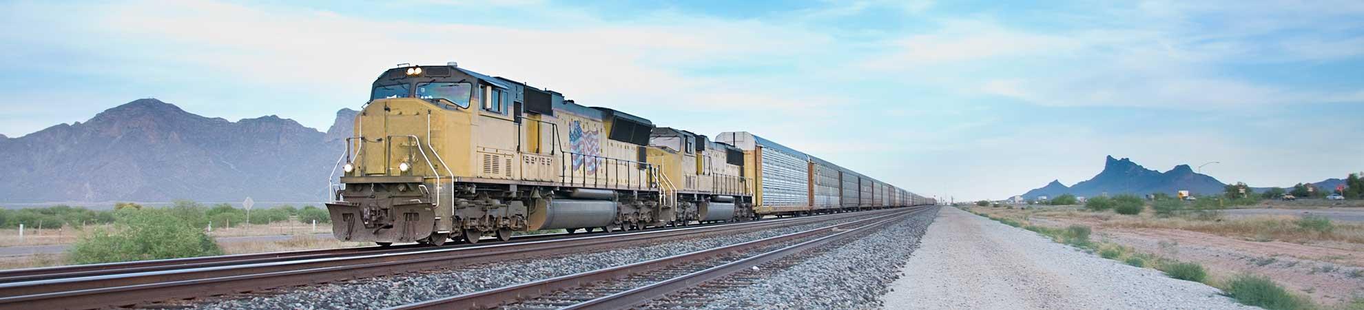 Voyage en train dans l'ouest américain